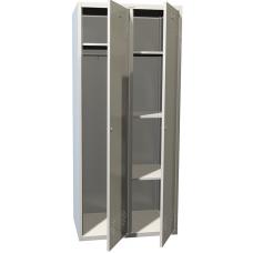 Шкаф для раздевалки ПРАКТИК LS(LE)-21-80U